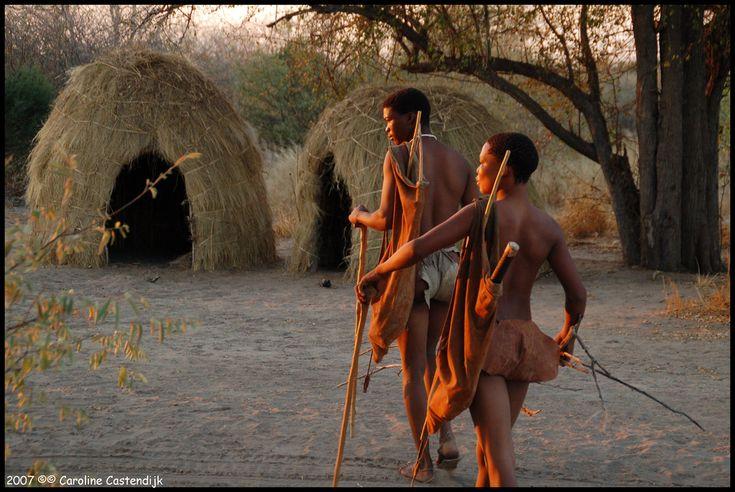 Africa | Bushmen.  Kalahari desert, Botswana | ©Caroline Castendijk