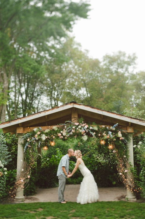 farm wedding venues minneapolis%0A A gorgeous arch of fairy lights and flowers to share your wedding vows  beneath  perfect for a summer evening wedding