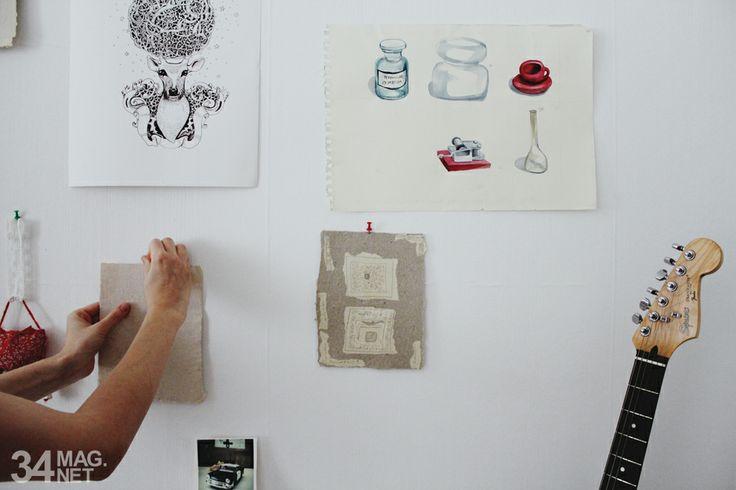 my art and handmade paper