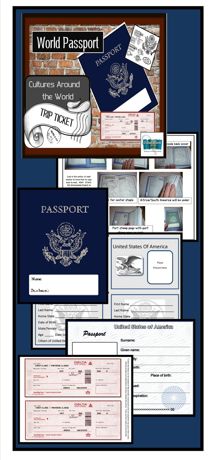 "Template with directions for creating the passport and creating a Cultures Around the World Day or using this for celebrating Christmas Around the World. Students can carry the book from class to class visiting different ""countries"" and participating in crafts, learning customs, and sampling food. It can also be used as part of any Unit of study for other countries or ancient civilizations."