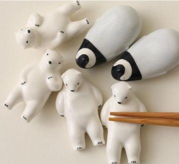楽土/シロクマの熊五郎 箸置き 2個セット - 箸置き - 通販カタログ - スタイルストア