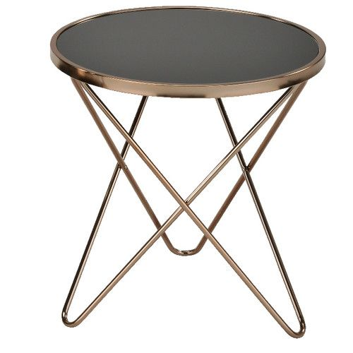 6ixty Champagne Side Table