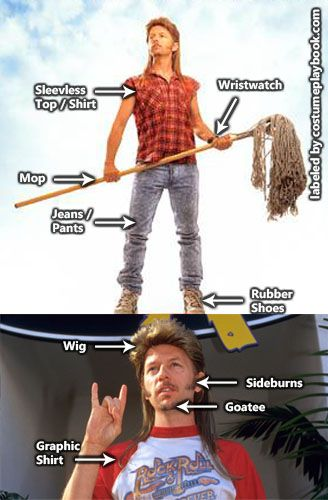 Get your mullet on as Joe Dirt!  Full costume guide: http://costumeplaybook.com/movies/3496-joe-dirt-costume-getup/