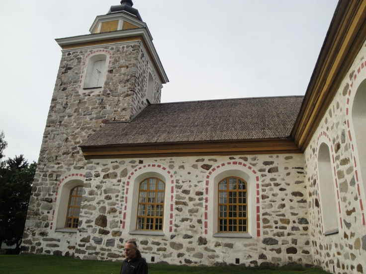 The church in Munsala, Finland my grandfather attended before he came to the US in the early 1900's.