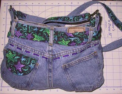 Blue Jean Pocket Purse Pattern