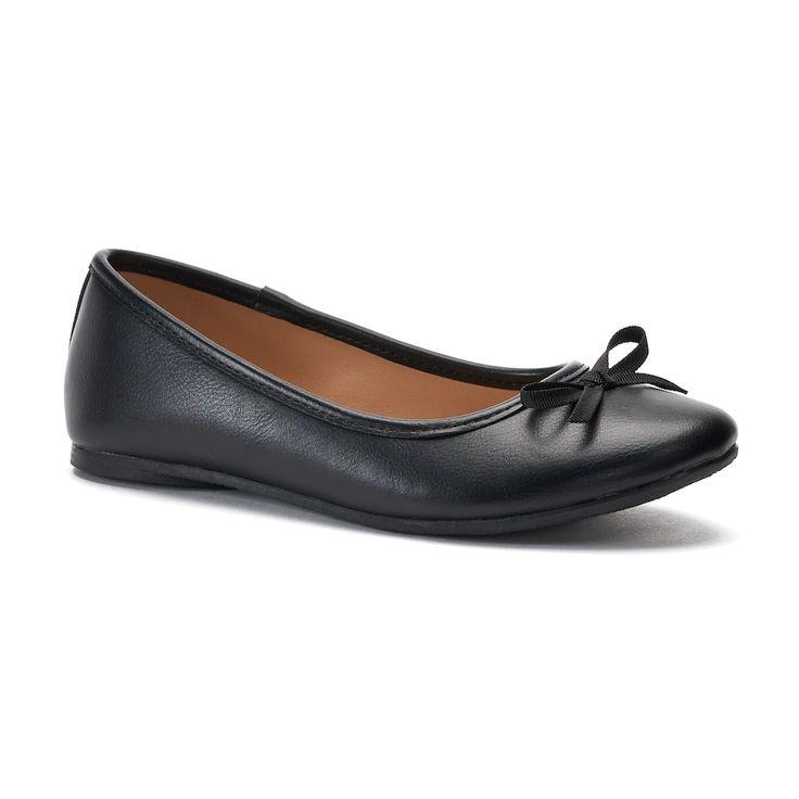 SO® Spicee Girls' Ballet Flats, Size: 12, Black