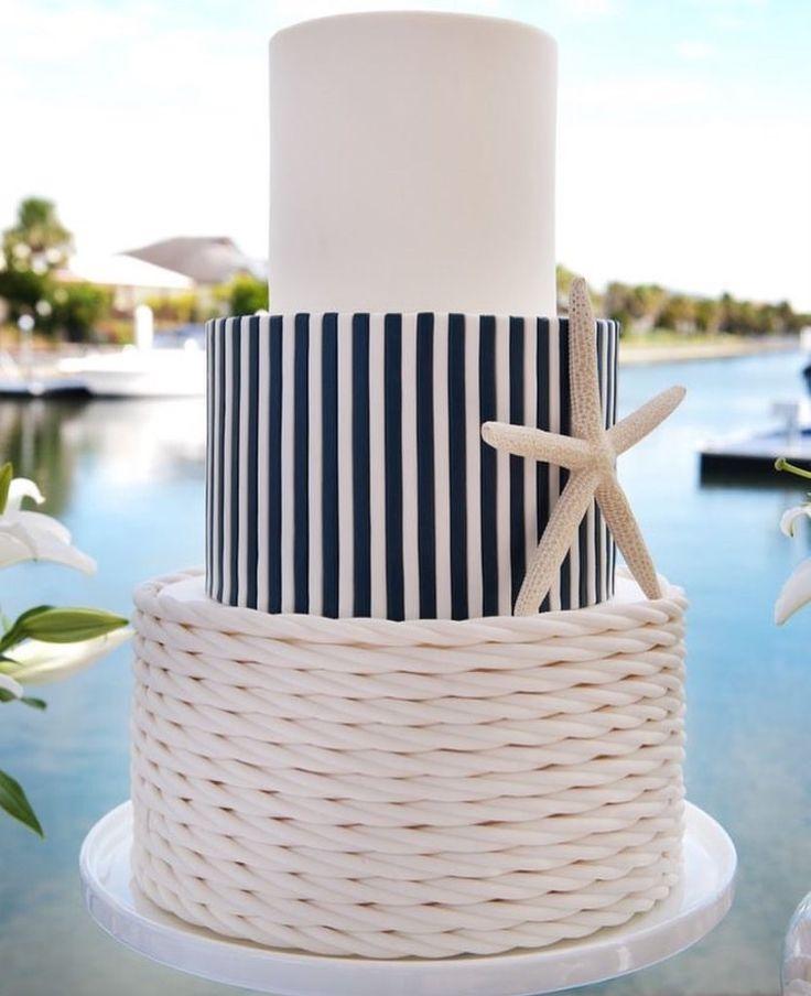 Beach wedding cake inspiration #beachweddingcakeidea