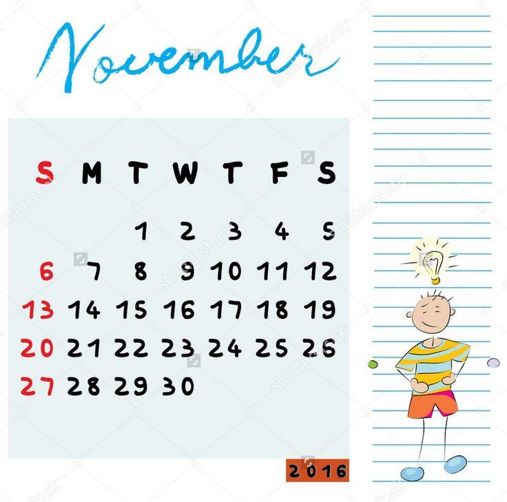 October November 2016 Calendar