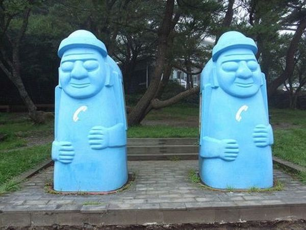 Twins-Weirdest public phone booths
