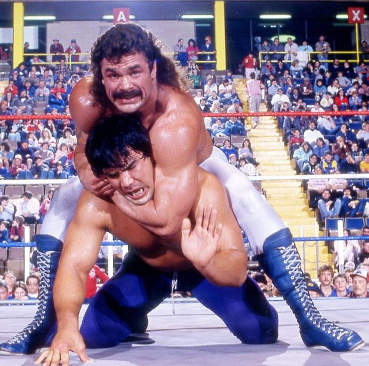 Image result for ricky steamboat vs rick rude