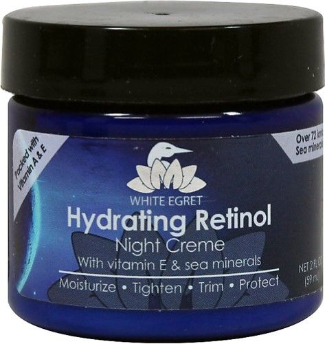 White Egret Hydrating Retinol Night Creme, 2 Oz
