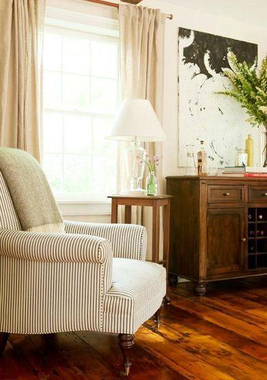 sj+interior+design+farmhouse+armchair+ticking+stripe.JPG 390×555 pixels