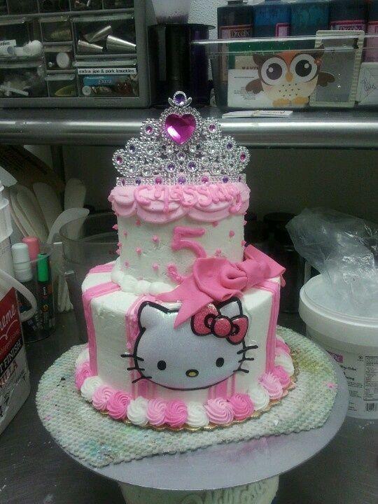 hello kitty tiara and tutu cake - Google Search