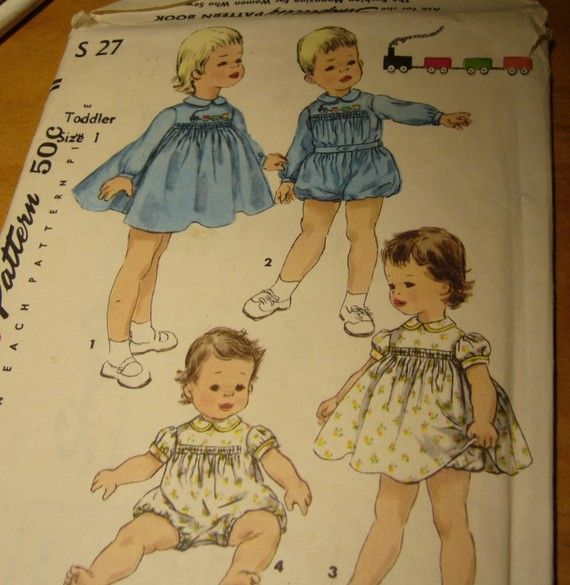 Vintage 1956 Toddlers Size 1 Sewing Pattern  by OldMavisVintage, $5.00