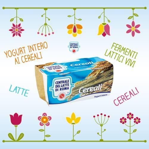 Il nostro #yogurt intero ai #cereali è perfetto da gustare in queste prime giornate di primavera... http://www.centralelattediroma.it/prodotti/yogurt-intero-cereali/