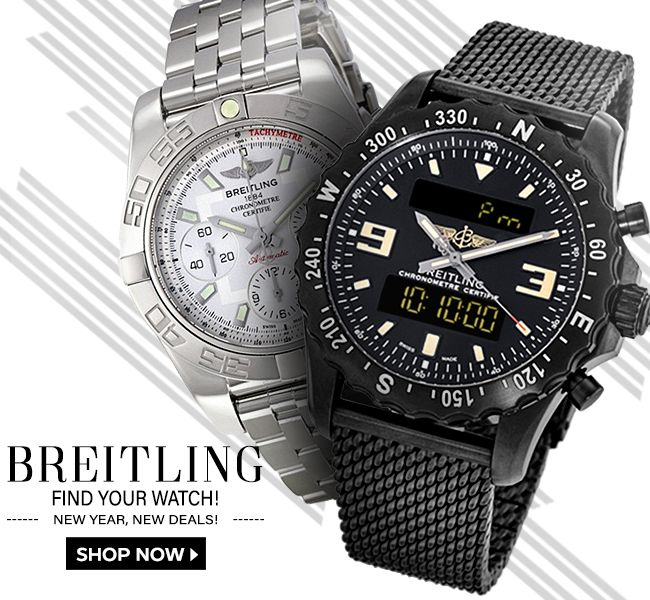 Check out AuthenticWatches.com New #Year, New #Deals! ⌚ #Breitling Sale for the best selling #watches for your stylish #NewYear #fashion, at incredible #prices! --- Extended Returns Through 3/14/18 ---
