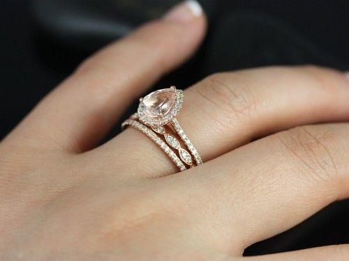 rose gold teardrop engagement ring want - Teardrop Wedding Rings