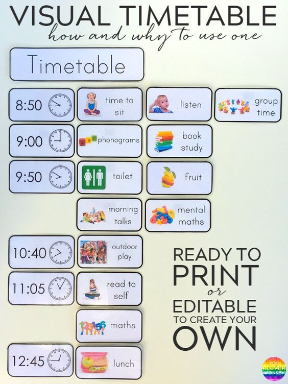 Terrible image pertaining to free printable picture schedule for preschool