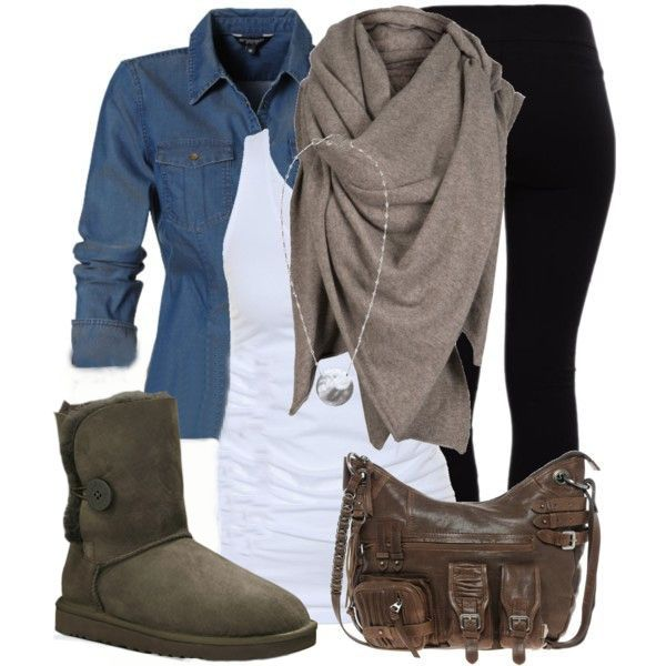 Chocolate Brown Uggs Outfit