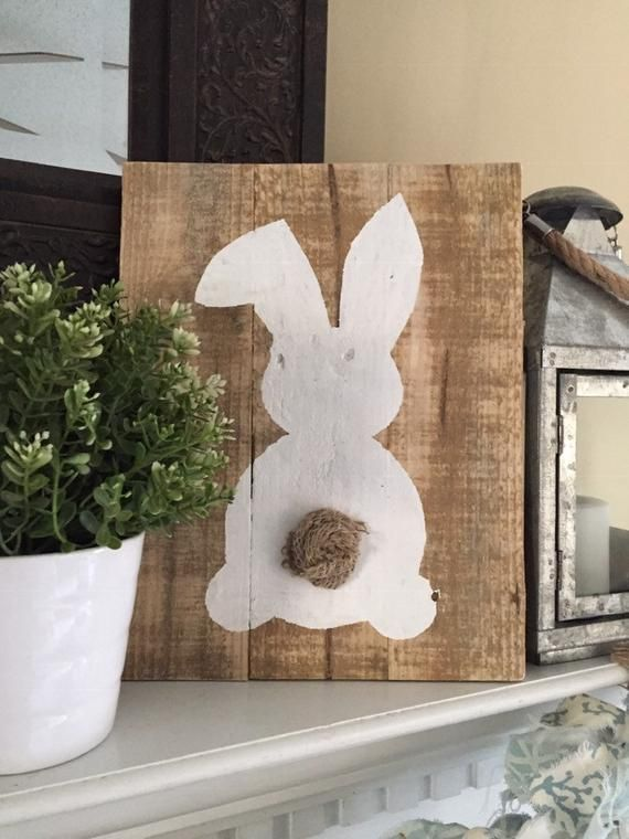 10 Wooden Standing Rabbits Craft Embellishments Standing Holder DIY Decor