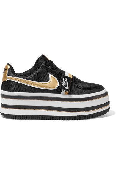 on sale c7c54 100b3 Nike  Vandal 2K metallic faux leather-trimmed faille platform sneakers   NET-A-PORTER.COM