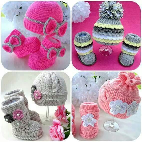 Baby crochet boots and hat's