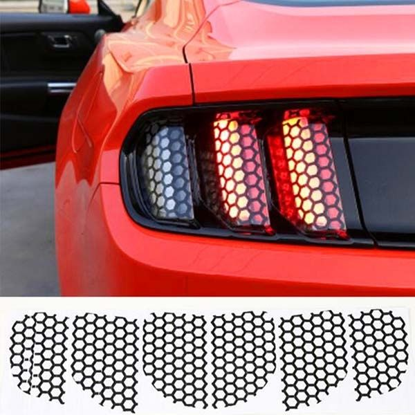 Car Accessories Decoration Honeycomb Beehive Style Cover Paste Rear Tail Light Sticker Film For Ford Mustang 2015 2016 2017 Wish Ford Mustang Tail Light 2015 Ford Mustang