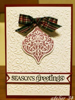 Christmas card 2012 with Stampin' Up stamps