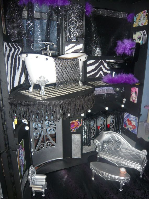 Ooak custom Monster high themed house by luyelps on Etsy, $178.09