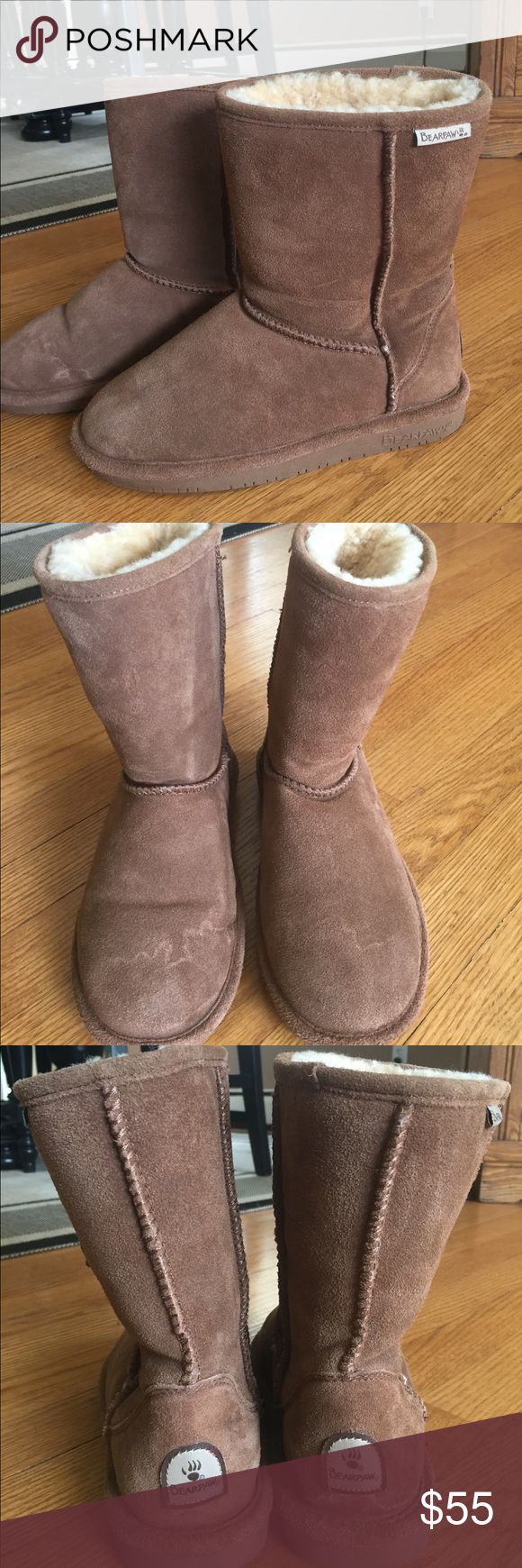 Bearoaw sheepskin boots.   ☃️ These boots are like new- they're just as nice as UGGS, with genuine sheepskin which is still warm and fluffy.  Love them!  Super warm and comfy for winter! BearPaw Shoes Winter & Rain Boots