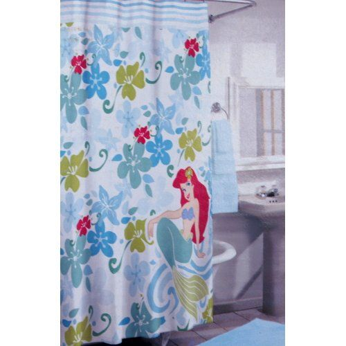 Disney Ariel The Little Mermaid Fabric Shower Curtain BigKitchen  Http://www.amazon