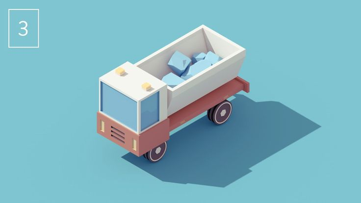 Vehicle #3 - Dump Truck. Third video of my series of vehicles animations.  > C4D (+Vray) & After effects  Thanks Lullatone for the music! lu...
