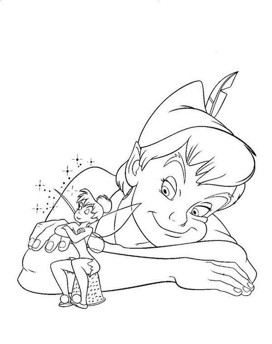 102 Best Tinkerbell Coloring Pages Images On Pinterest Draw - peter pan coloring pages free print