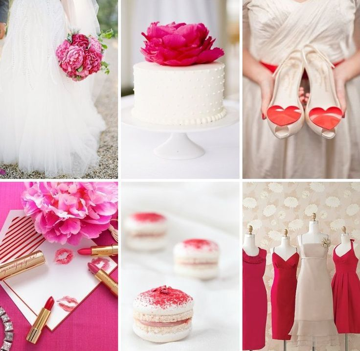 raspberry wedding: White Wedding, Colors Dreams, Valentines Day, Colors Palettes, Colors Schemes, Wedding Colors, Fuchsia Pink, Colors Ideas, Happy Valentines