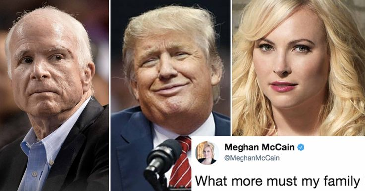 Meghan McCain speaks for all of us with a powerful message about our cruel president.