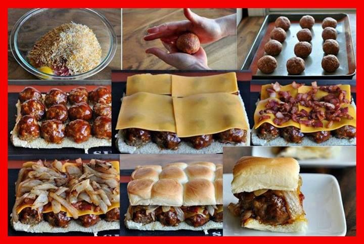 Smokey Mesquite BBQ Meatball Sliders