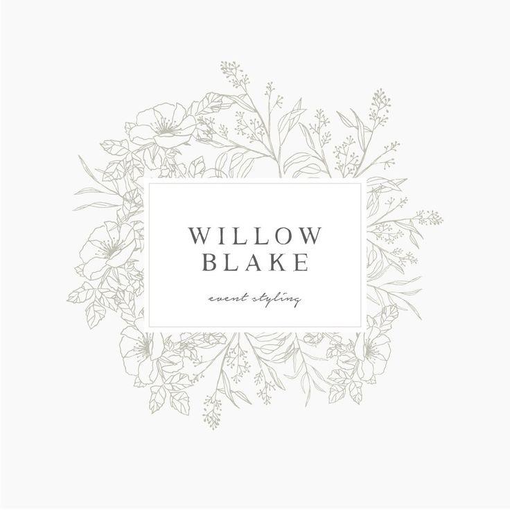 Willow Blake Logo Suite | Floral Logo | Pre Made Logo | Premade Logo | Wedding Logo | Instand Logo | Florist Logo