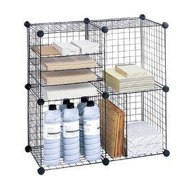 Wire 5 Shelf 38.1cm Cube Unit
