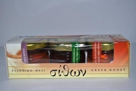 ΜΕΛΙ ΚΑΣΕΤΙΝΑ Συσκευασία με τρία αντιπροσωπευτικά ελληνικά μέλια σε συσκευασίες των 3Χ30 γρ. Ιδανικό για δώρο