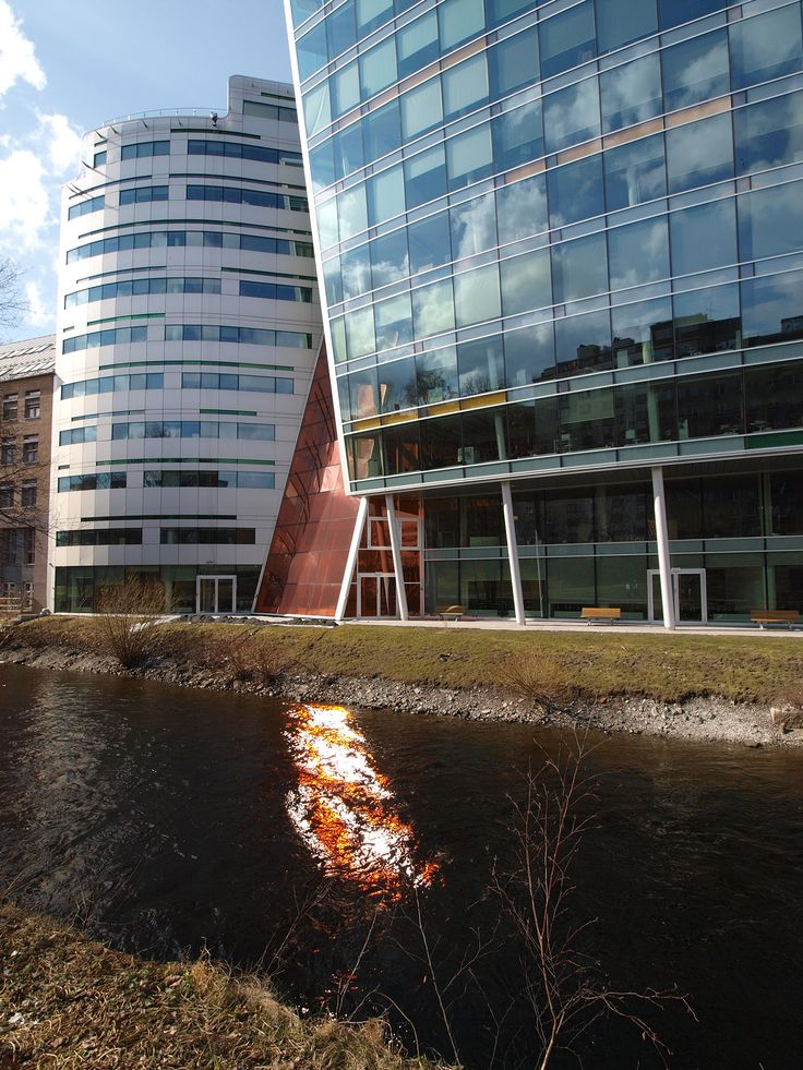 Buildings by the Akerselva river