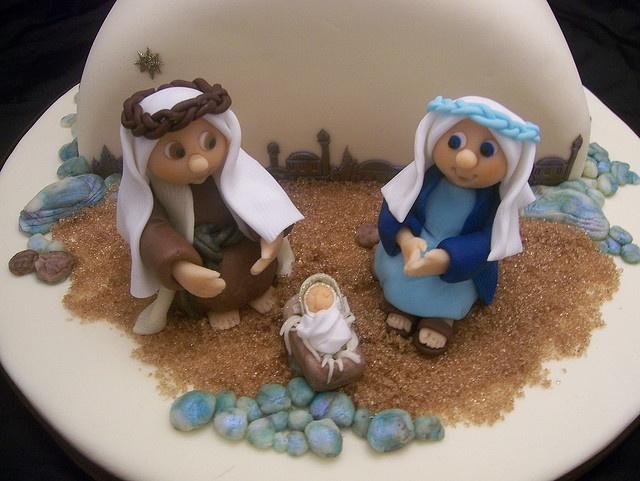 Decorating Ideas > Christmas Nativity Cake By Casa Costello, Via Flickr  ~ 175420_Jane Asher Christmas Cake Decoration Ideas