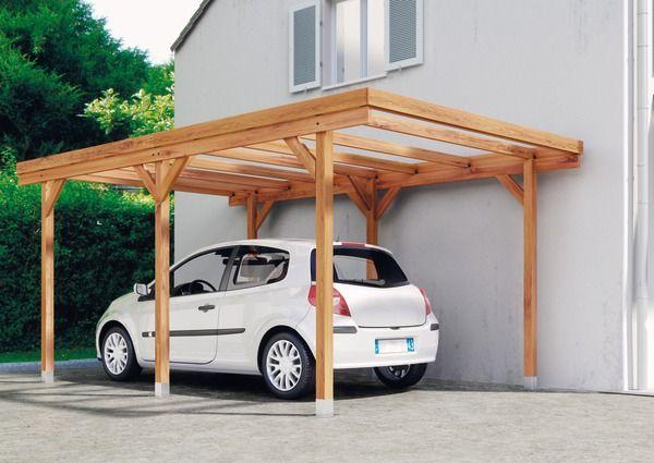Carport Bois H 2 33 X L 5 X L 3 M Brico Depot Carport Bois Abri Pour Voiture Pergola Pergola Design