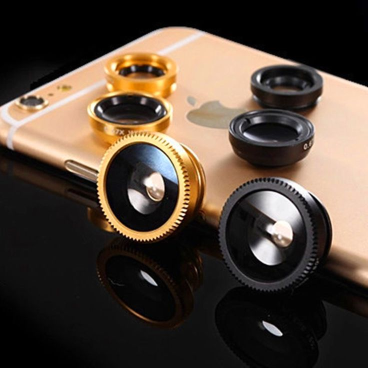 Fish Eye Lenses + Wide Angle + Macro mobile Phone Lenses 3 in 1 Fisheye Universal Smartphone Lens For iPhone 7 6s plus Samsung