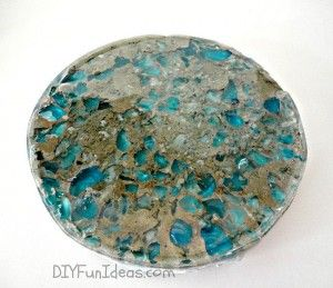 How to Make Crushed Glass Concrete & Resin Coasters
