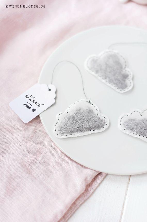 ... DIY cloud teabag ...