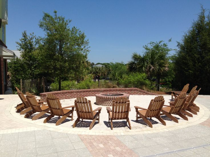Groups can enjoy drinks or meeting breaks at our new fire pit on the Village Plaza. #meetinthewild #charleston #meetingsandevents