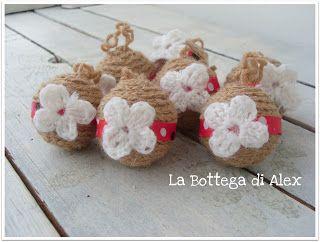 Pallina di natale handmade in lana