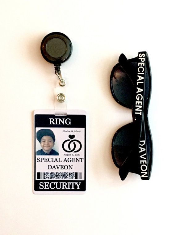 Ring Security Badge Set w/ Matching by CastleHallCreative on Etsy