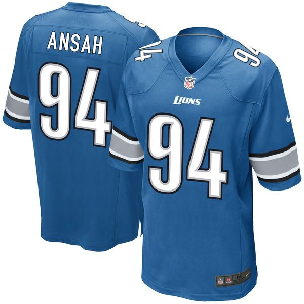 Ezekiel Ansah Detroit Lions Nike Game Jersey - Light Blue - $79.99