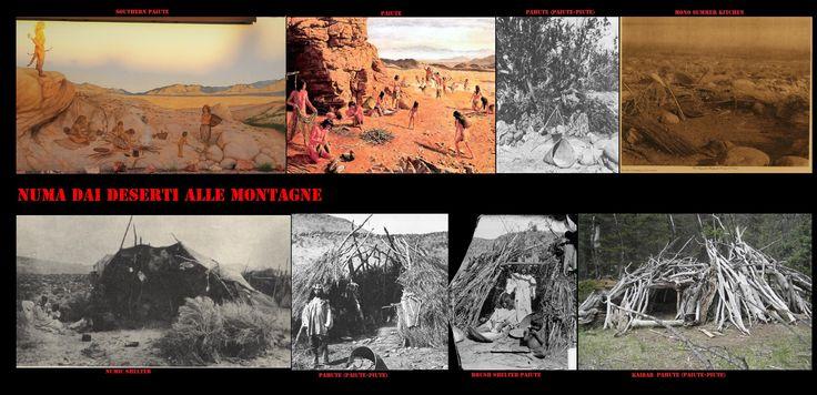 Le popolazioni numiche più occidentali, come i Pahute (Pah-ute, Piute, Paiute, Paiute meridionali), Goshute, Shoshone occidentali, Timbisha (Koso, Panamint), Mono (Owens Valley Paiute) (Mono Lake Paiute), Paviotso (Paiute del Nord, Numu), erano estremamente mobili, rimanevano, spesso, poche settimane in uno stesso accampamento, per cui spesso i loro kahni erano dei ripari naturali o dei rifugi provvisori per difendersi dal sole e dal vento della loro arida terra.